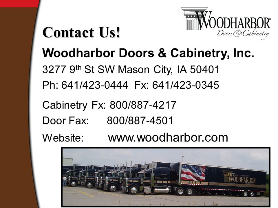 Woodharbor Doors & Cabinetry, Inc.