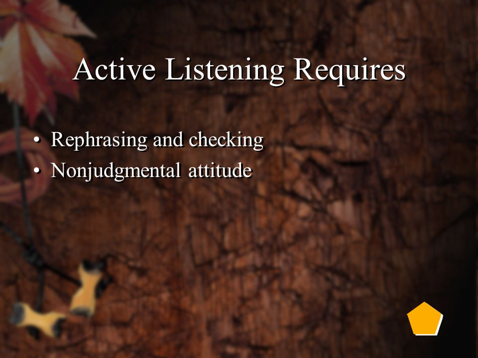 Two Parts of Effective Listening Active listening Empathetic listening Active listening Empathetic listening