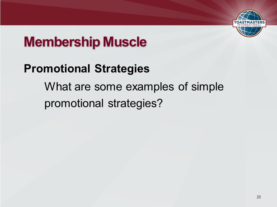 What are some examples of simple promotional strategies.
