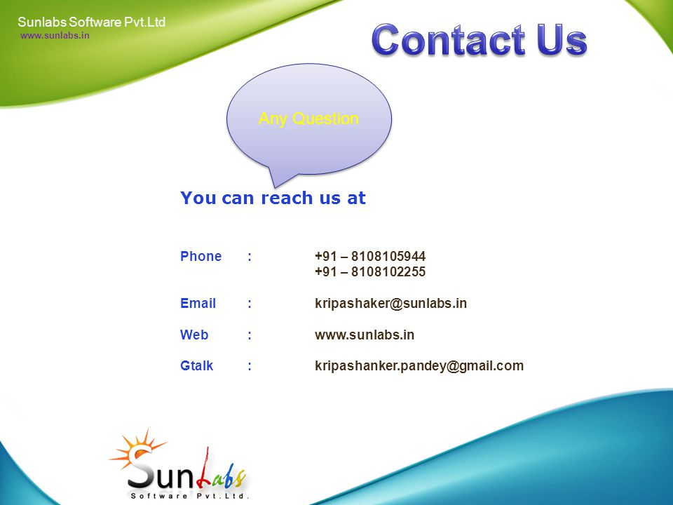 Web Design Logo Design Sunlabs Software Pvt.Ltd