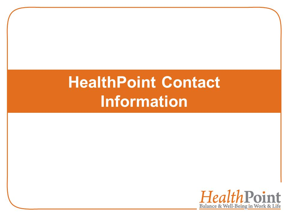 HealthPoint Contact Information