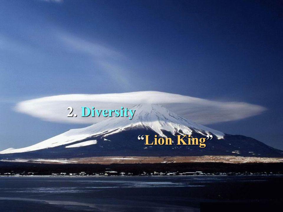 2. 2. Diversity Lion King