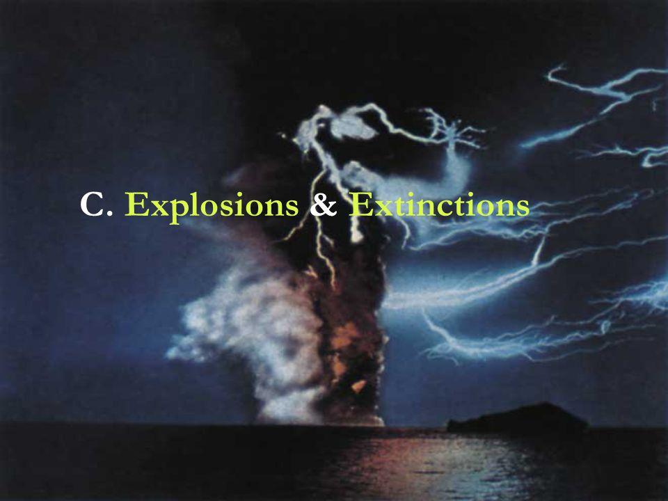 C. Explosions & Extinctions