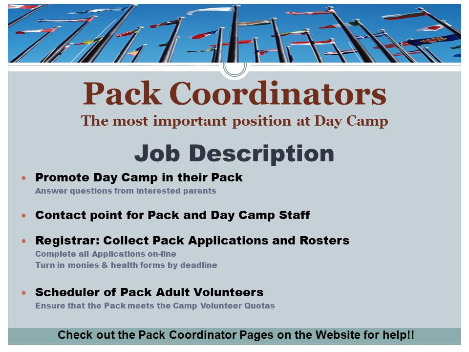 Day Camp Promotion Get the WORD OUT about Day Camp.
