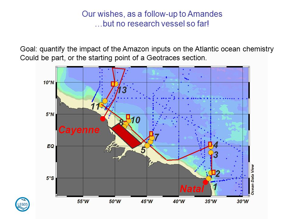 Our wishes, as a follow-up to Amandes …but no research vessel so far.