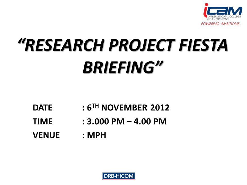 INTRODUCTION Research Project (RP) Fiesta has been proposed by the committee as the appreciation of the student's work in research project.