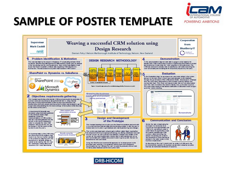 SAMPLE OF POSTER TEMPLATE