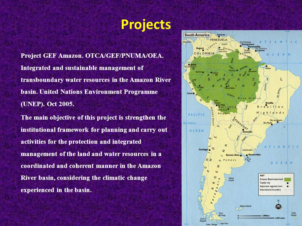 Projects Project GEF Amazon. OTCA/GEF/PNUMA/OEA.