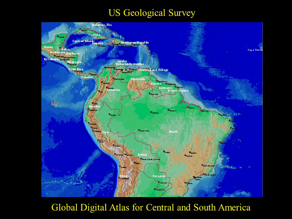 US Geological Survey Global Digital Atlas for Central and South America