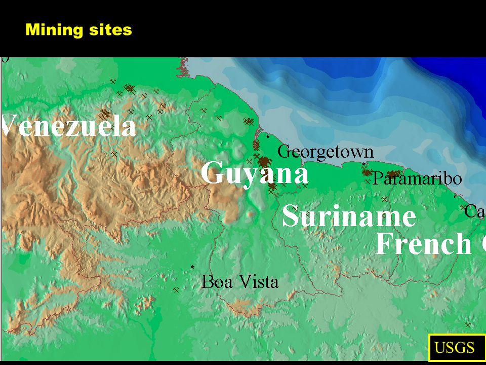 Mining sites USGS