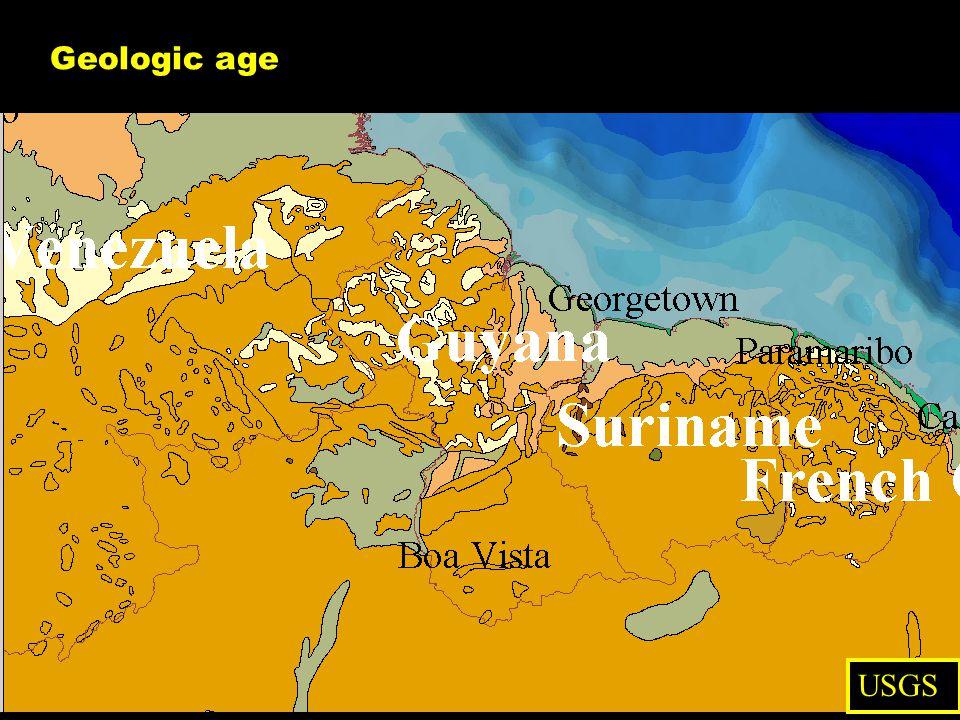 Geologic age USGS