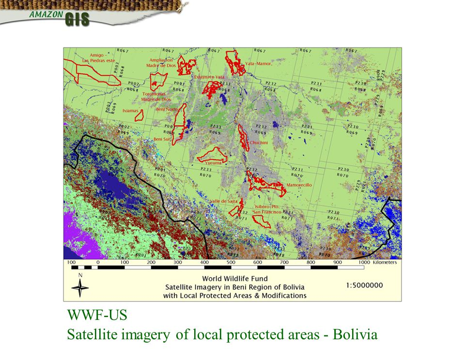 WWF-US Satellite imagery of local protected areas - Bolivia