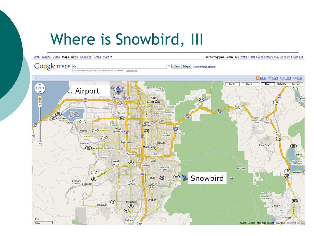 Where is Snowbird, III Airport Snowbird