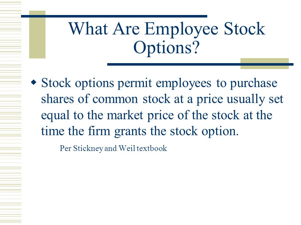 What Are Employee Stock Options.