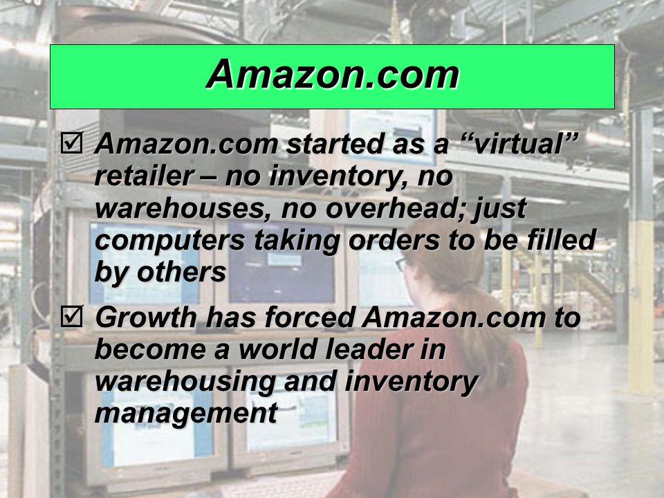 "© 2008 Prentice Hall, Inc.12 – 8 Amazon.com  Amazon.com started as a ""virtual"" retailer – no inventory, no warehouses, no overhead; just computers ta"