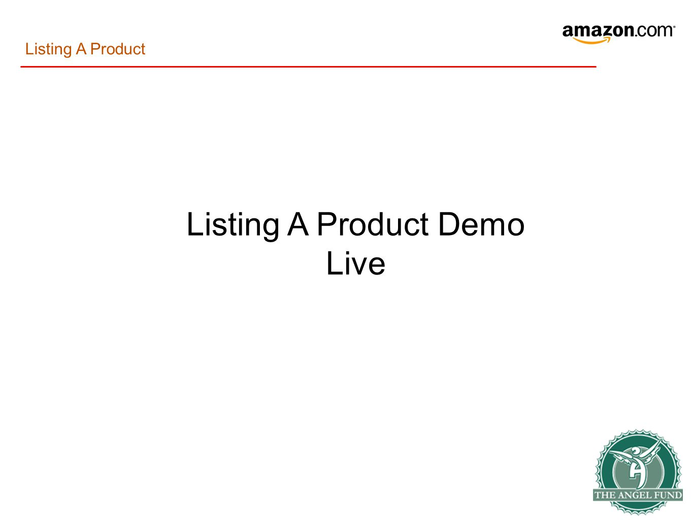 Listing A Product Demo Live Listing A Product
