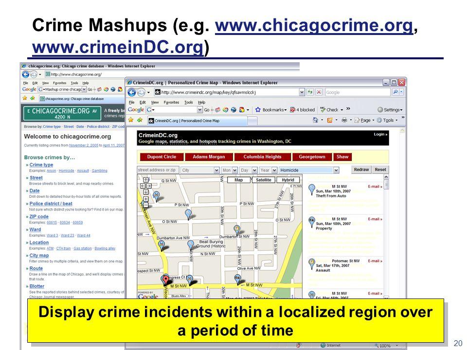 20 Crime Mashups (e.g.