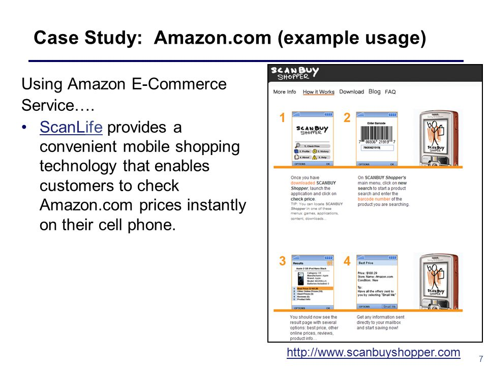 7 Case Study: Amazon.com (example usage) Using Amazon E-Commerce Service….