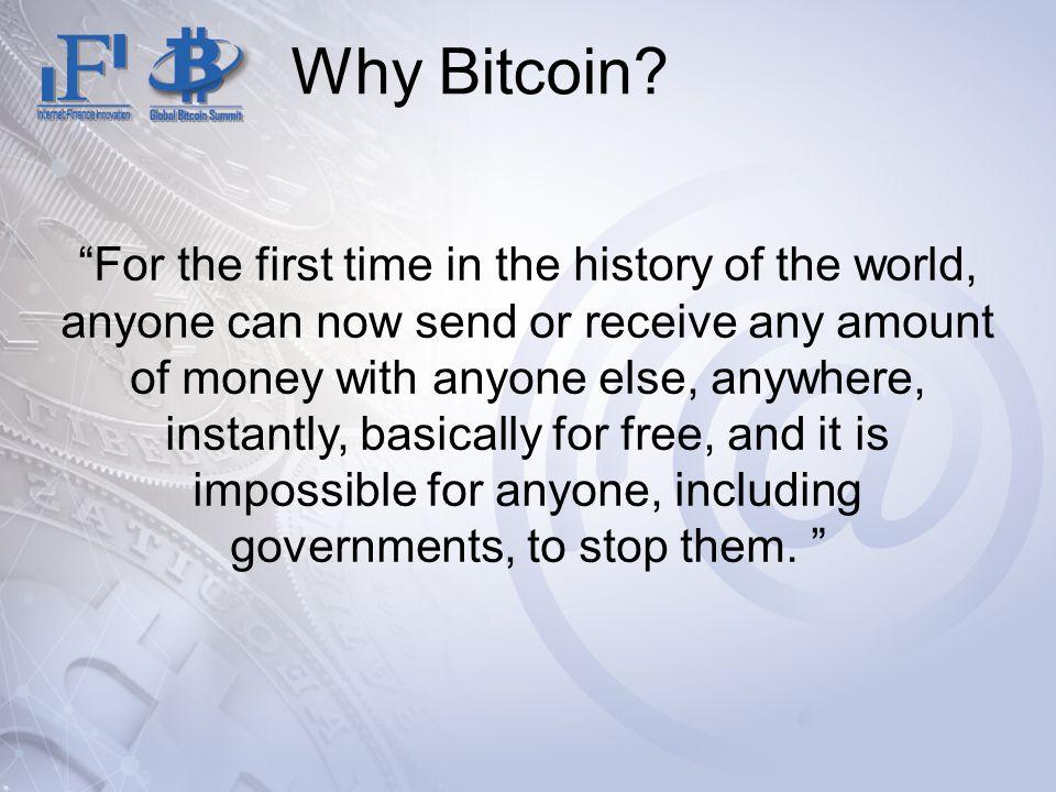 Why Bitcoin.