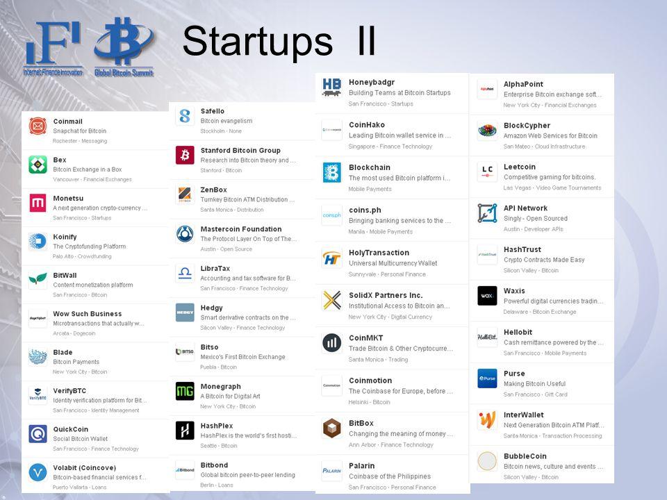 Startups II