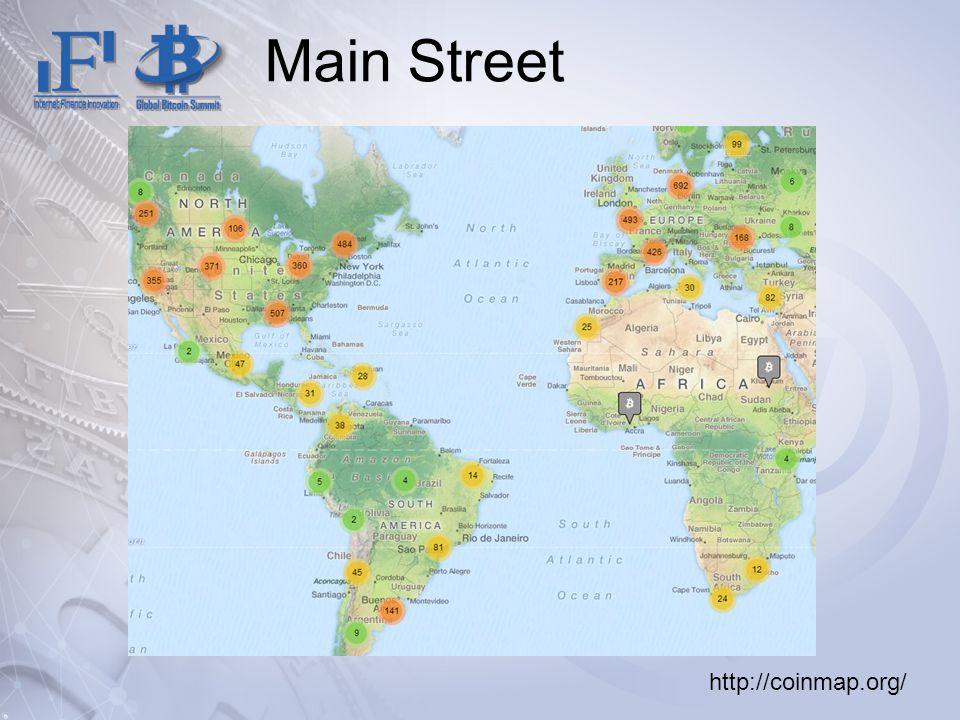 Main Street http://coinmap.org/