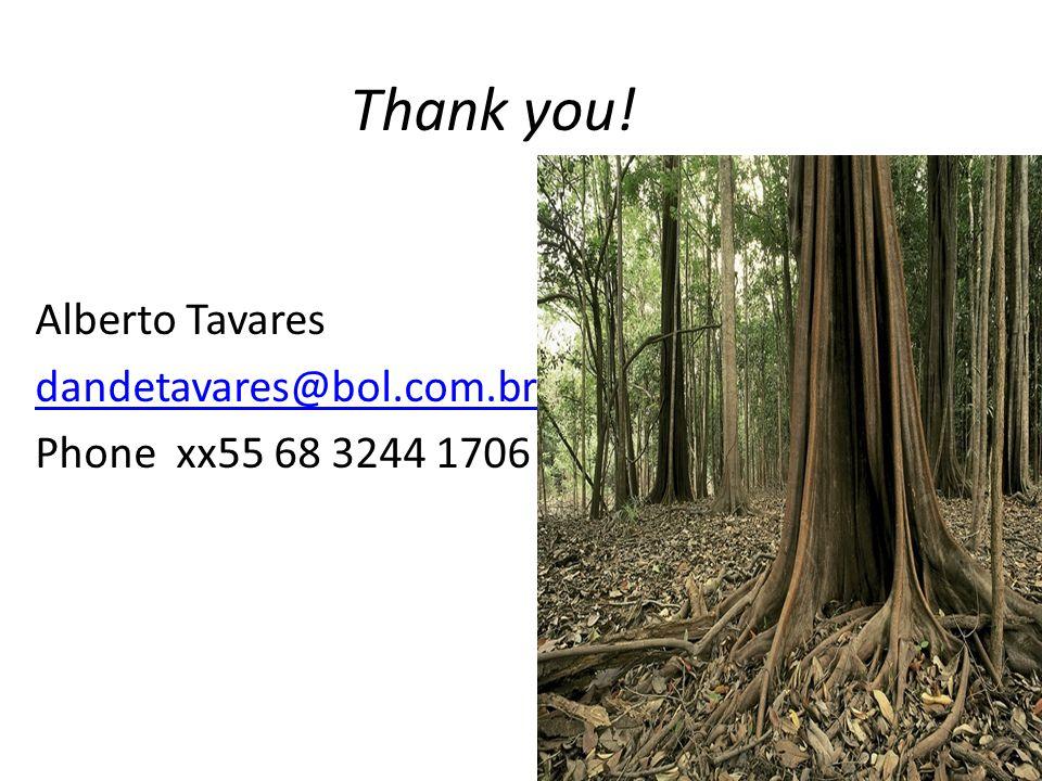 Thank you! Alberto Tavares dandetavares@bol.com.br Phone xx55 68 3244 1706