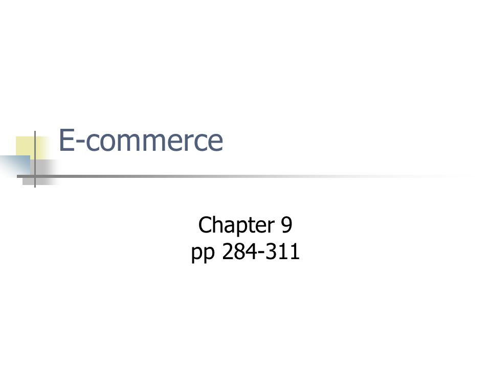 E-commerce Chapter 9 pp