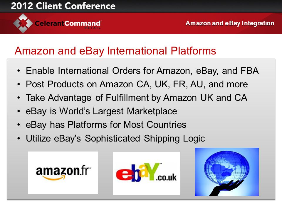 Amazon and eBay International Platforms Enable International Orders for Amazon, eBay, and FBA Post Products on Amazon CA, UK, FR, AU, and more Take Ad