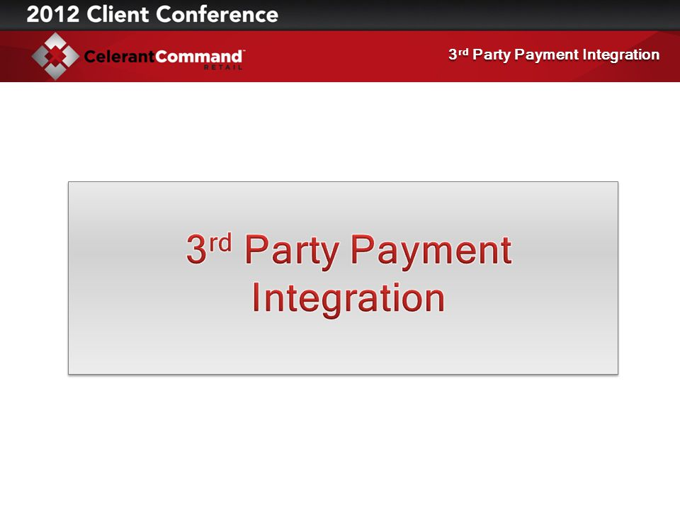 3 rd Party Payment Integration