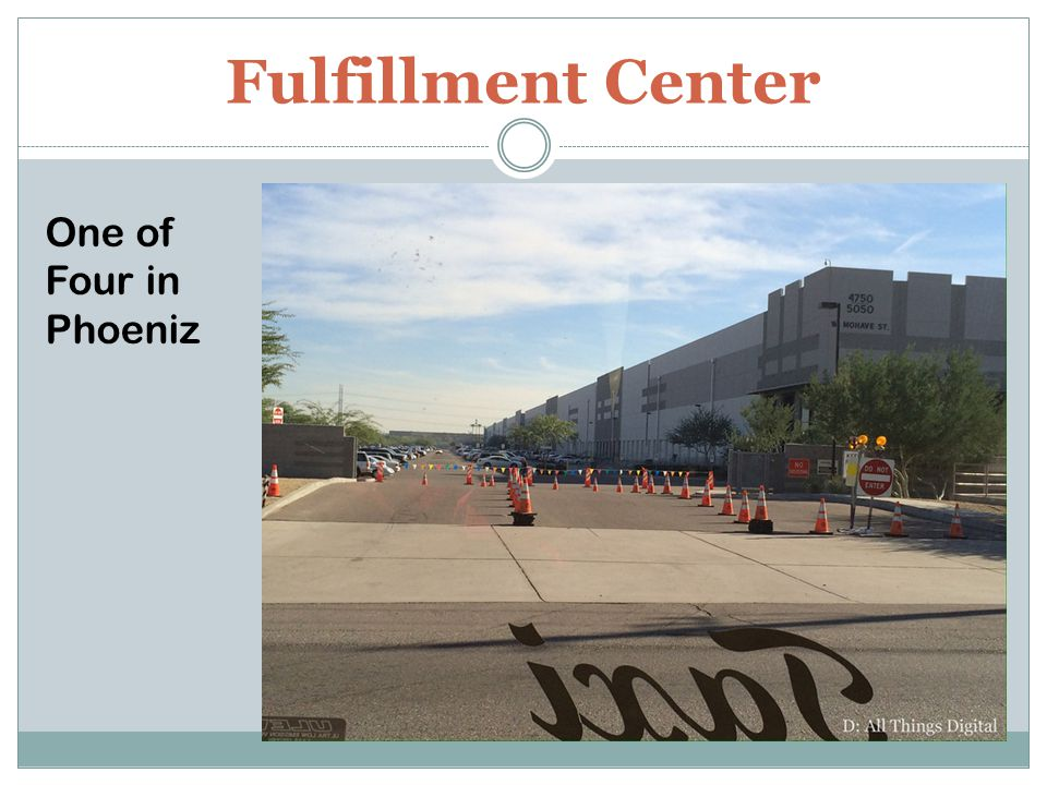 Fulfillment Center One of Four in Phoeniz