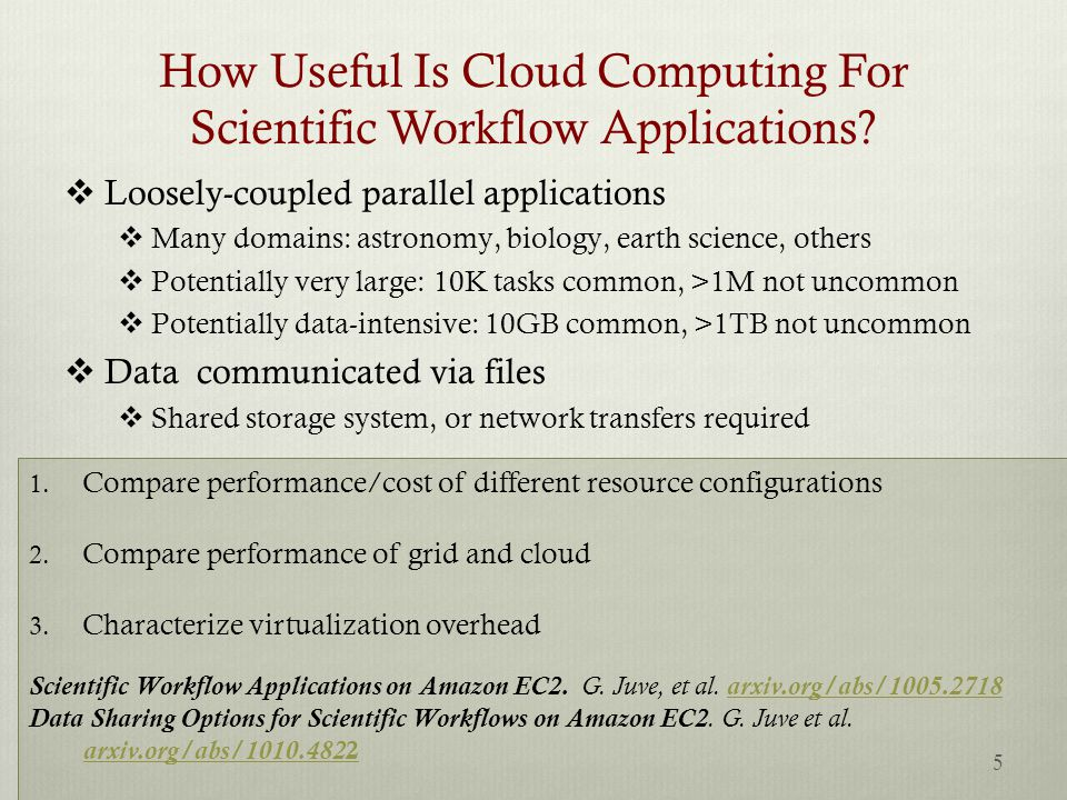 How Useful Is Cloud Computing For Scientific Workflow Applications.