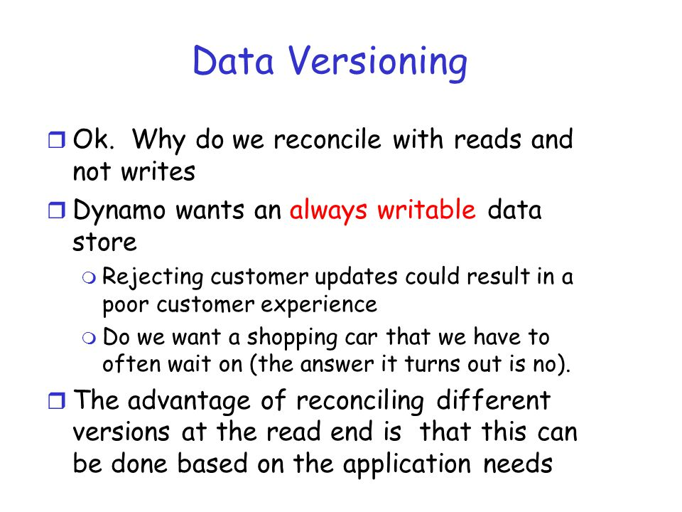 Data Versioning r Ok.
