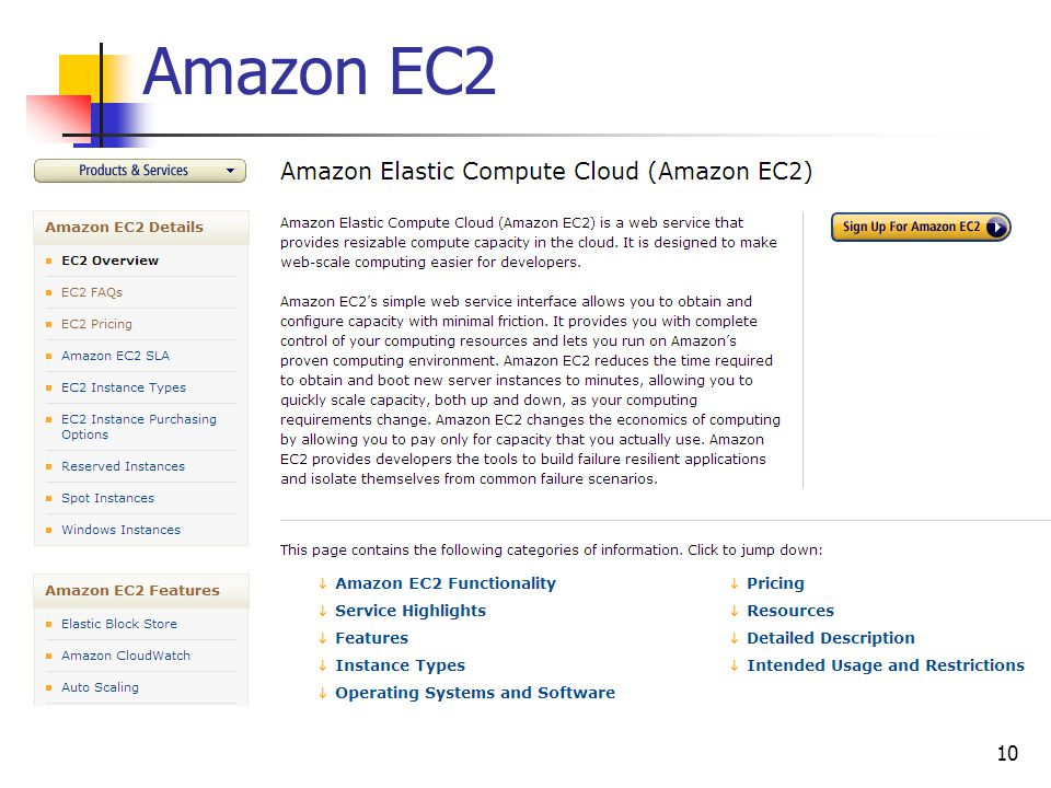 Amazon EC2 10