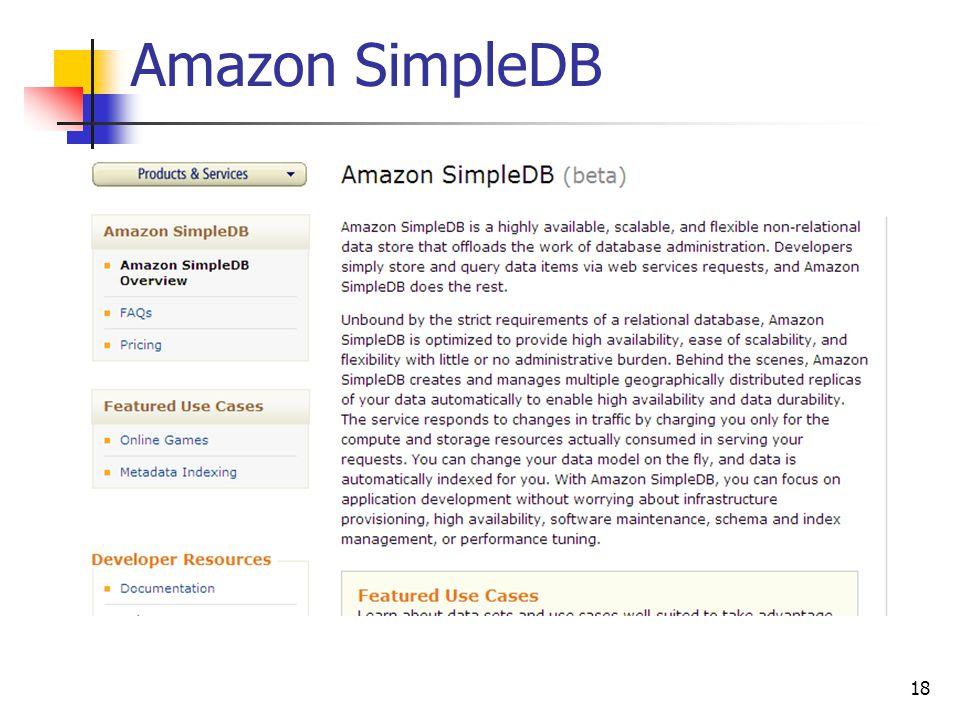 Amazon SimpleDB 18