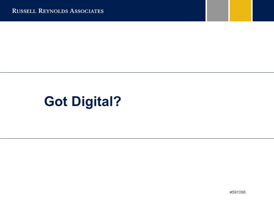 2 Got Digital?: Digital Matters  Market Disruption.