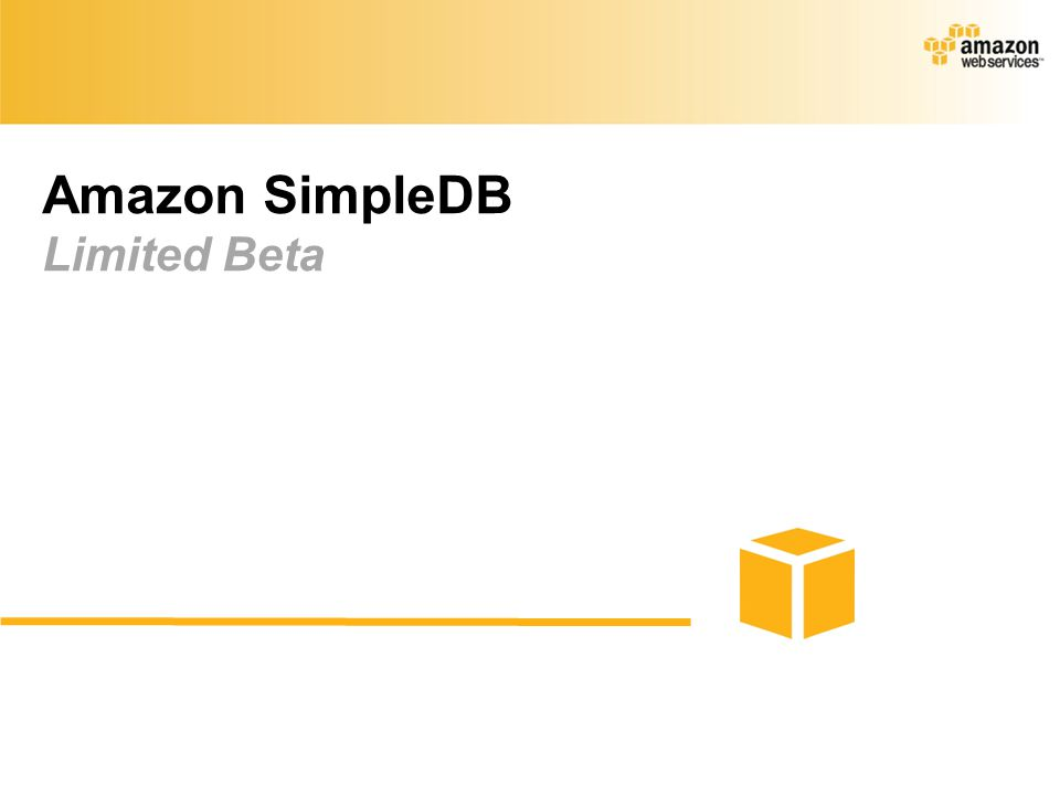 Amazon SimpleDB Limited Beta