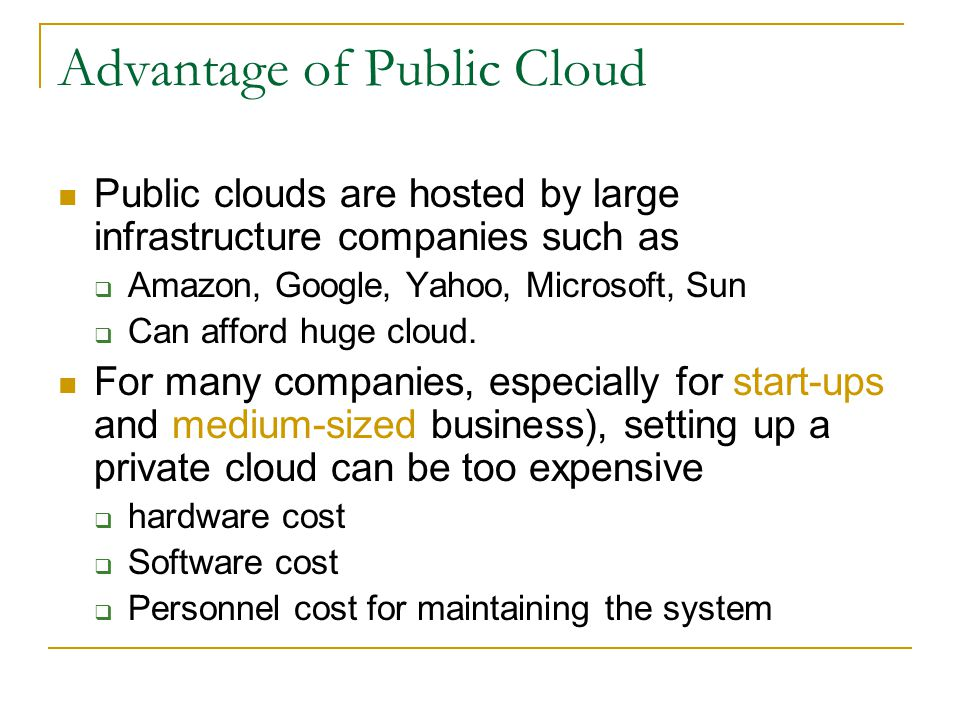 Cloud Characteristics Computing power is elastic, but noly if workload is parallelizable.