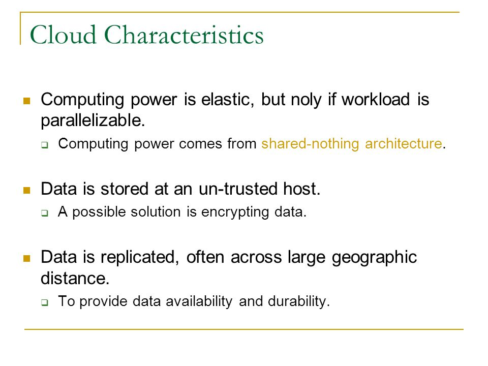 Transactional Data Management (OLTP) Typically does not use a shared-nothing architecture.