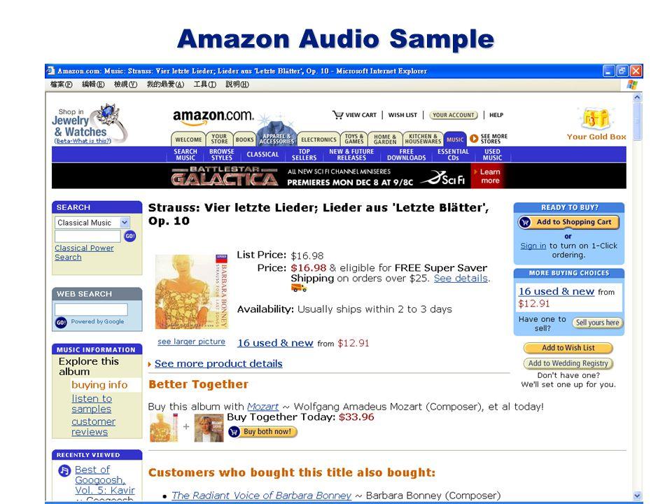 Amazon Audio Sample