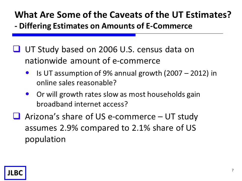JLBC 7 What Are Some of the Caveats of the UT Estimates.