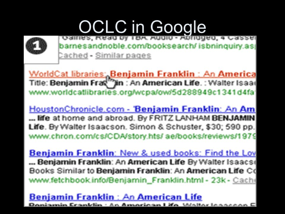 OCLC in Google