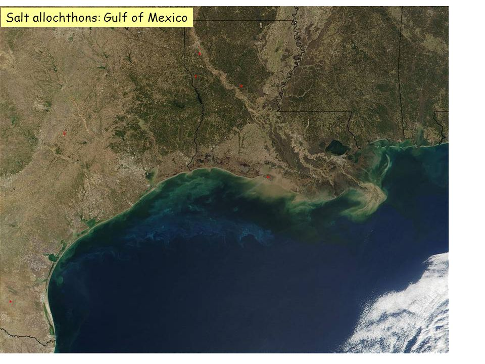 Salt allochthons: Gulf of Mexico