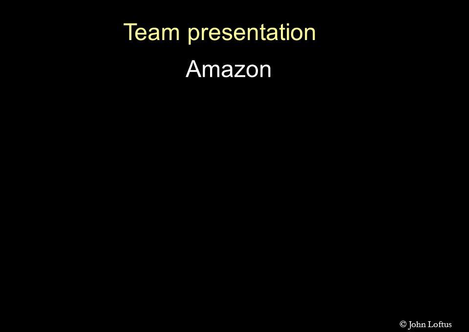Team presentation Amazon © John Loftus