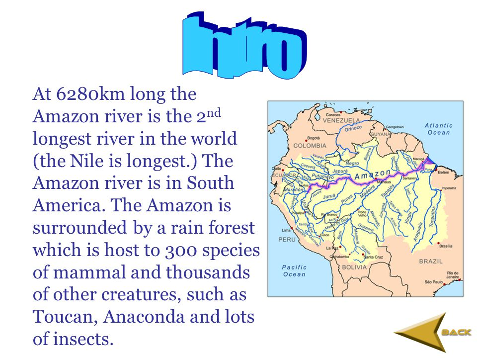 o Intro o Features of the river o Usage of the river o Changes of the river o Fascinating facts o All in all o Quick game