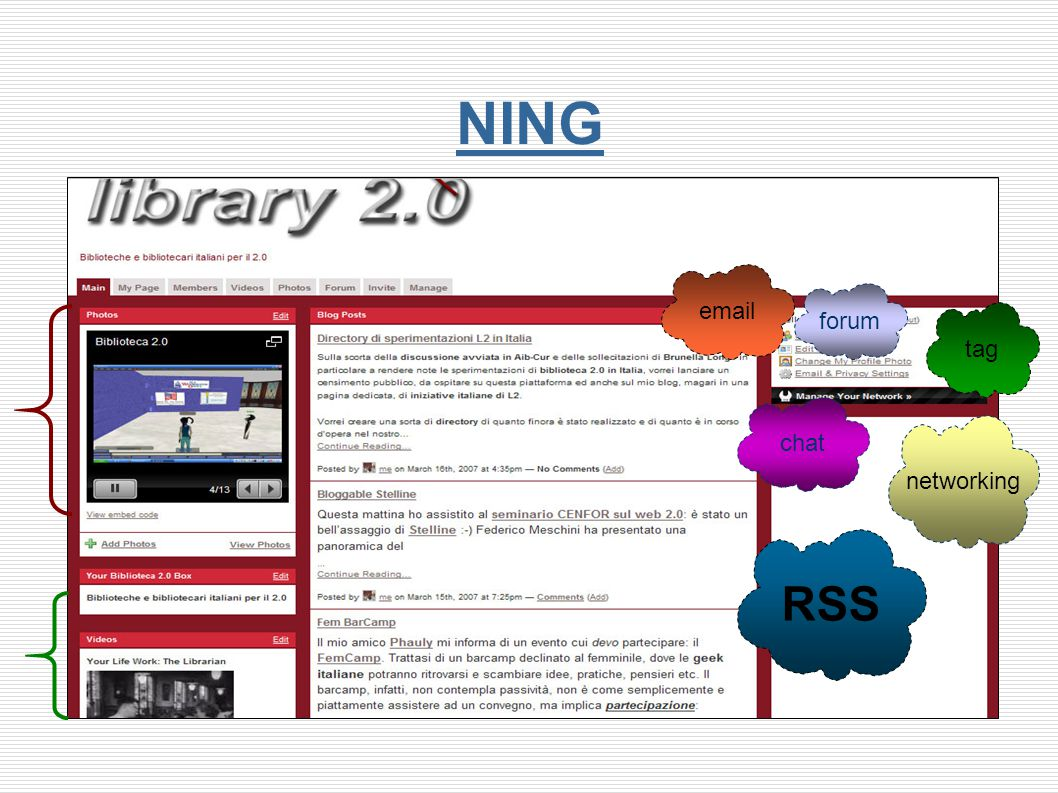 NING RSS tag email chat networking forum