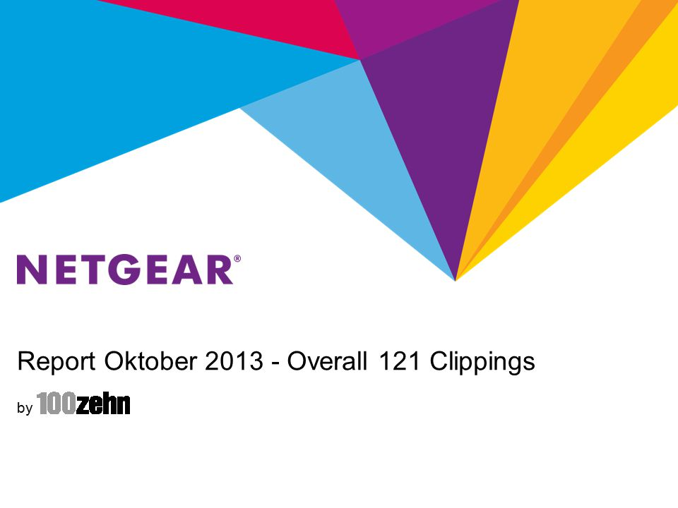 Report Oktober 2013 - NETGEAR Retail Business Unit NETGEAR RBU Summary Total: 73 (RBU) + 31 (both) Clippings D-A-CH Coverage is focused on R7000 and ReadyNAS PR-Activities: RN312 review with Tom's Hardware and RN102 review with PCWelt; 100zehn created first ideas regarding R7000 launch in GER and sent to Netgear; Review devices: D6300 & A6200 (c't), R6300 & A6200 (sarahhatsgetestet.de), PTV3000 (ComputerBILD), A6200 & R6300 (tech-fire.de / Redaktionsbüro Schlede), WN3500RP (PC Magazin), R6250 (teltarif.de) XAVT5602 & XWN5001 (PC Praxis), A6200 & D6200B + XAVB5601 (PC Games Hardware), WN1000RP (Handy-Fans.de) product raffles: X-Mas raffles arranged with tvdigital.de + hoerzu.de; ac-Bundle raffle with techfire.de, A6200 & R6300 raffle with tech-fire.de; 3xD6300B review in Wissen magazine; XAVB5201 raffle with blogtogo.de The blogger who received a R6300 and a XAVB5602 for a review published his positive and nice review of the XAVB5602 and asked for future cooperation
