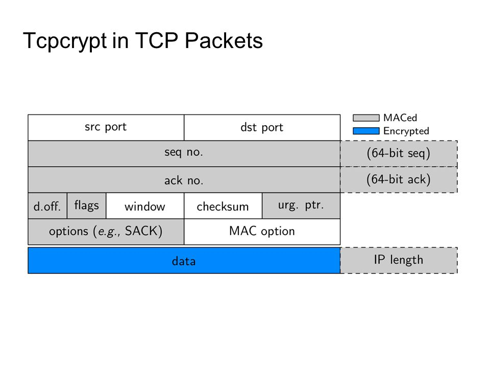 Tcpcrypt in TCP Packets