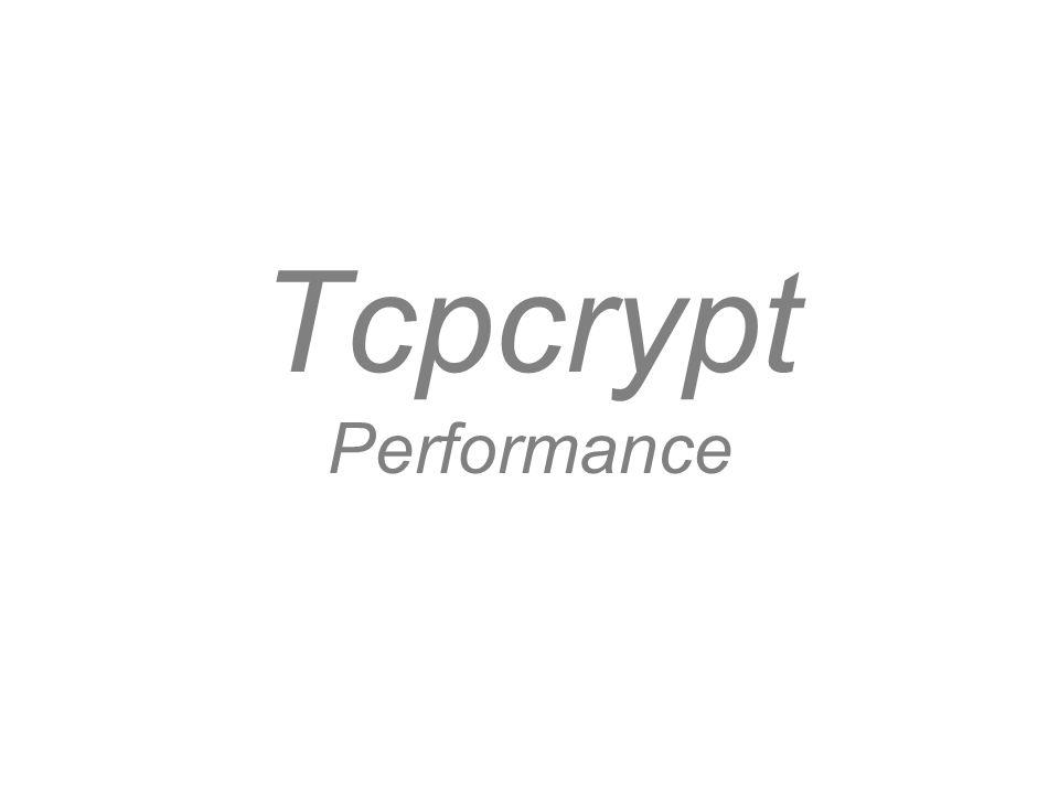 Tcpcrypt Performance