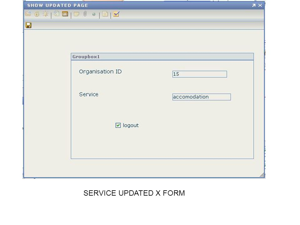 SERVICE UPDATED X FORM