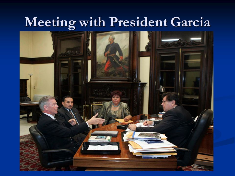 Meeting with President Garcia